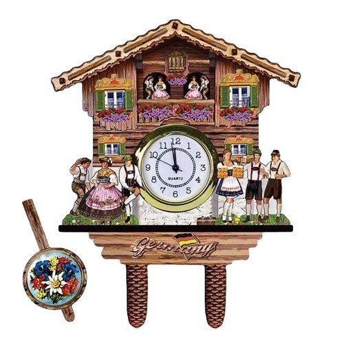 Beer House Dancers Clock Magnet