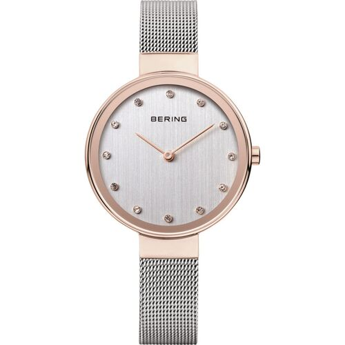 Watch - Bering Ladies Classic 12034 Grey Mesh Rose Narrow