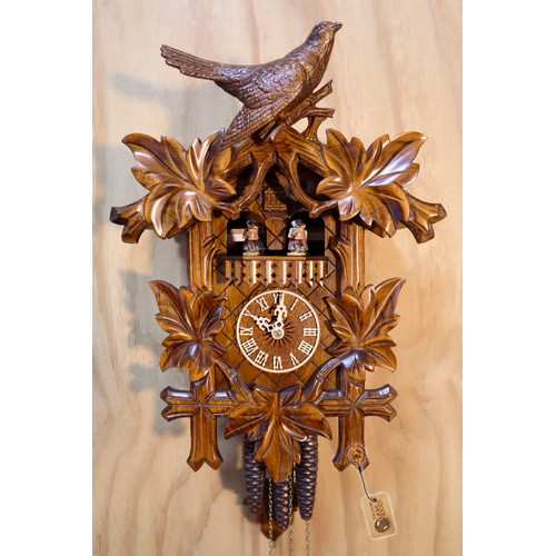 Carved Detailed Bird And Leaves 44cm Cuckoo Clock By HÖNES