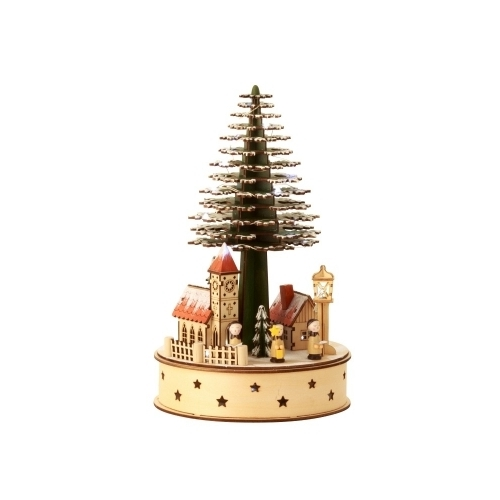 CHRISTMAS VILLAGE WITH TREE LED 32CM
