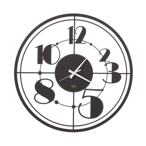 Black Teo Modern Wall Clock 50cm By ARTI E MESTIERI