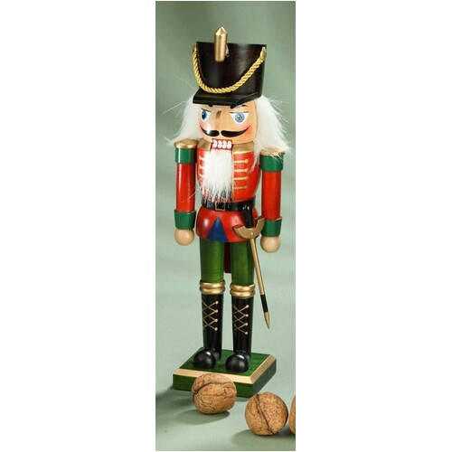 King With Black Hat 23cm Nutcracker